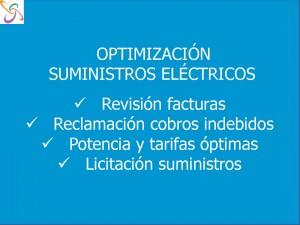 Optimizacion suministros electricos Concellos