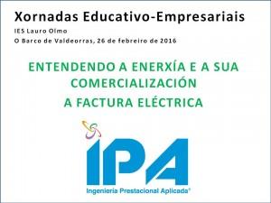 Titulo ponencia XXV Semana Jornadas Educativo Empresariales IES Lauro Olmo