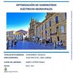 Portada informe optimización suministros eléctricos Concello Celanova